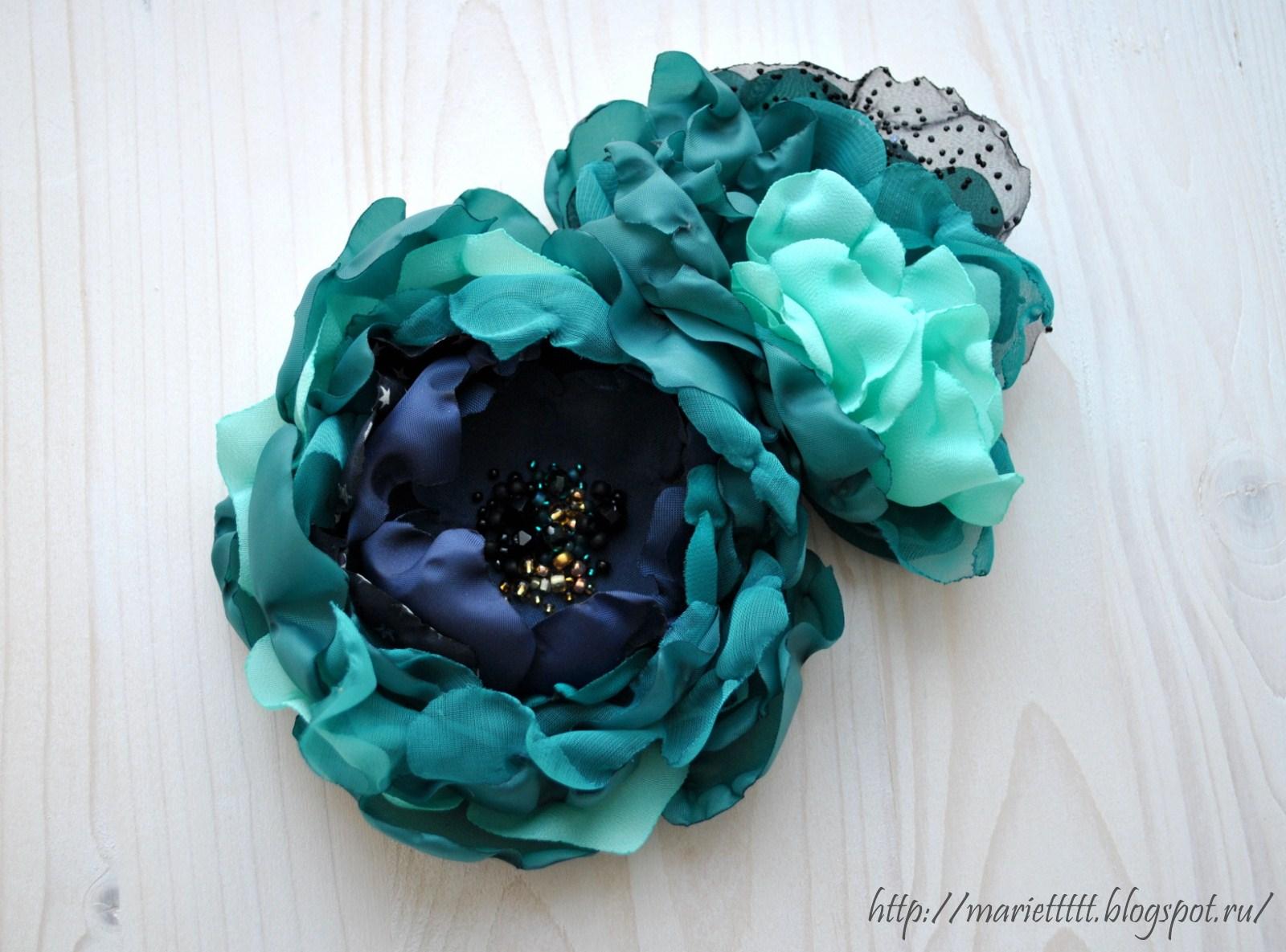 Как сделать броши цветы из ткани своими  437