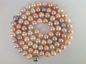 Store runde rosa perler