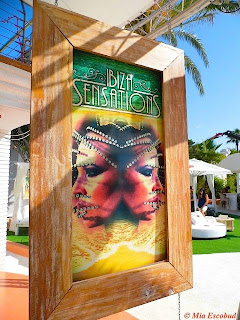 Ibiza sensations poster at ocean beach club