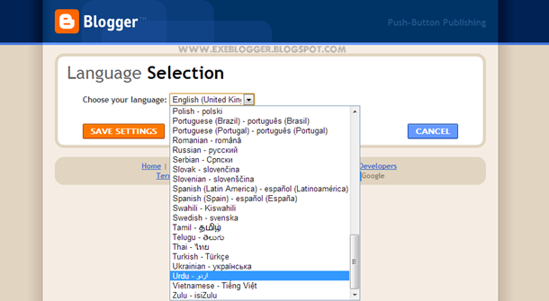 How to Change the Default Language of Blogger Dashboard