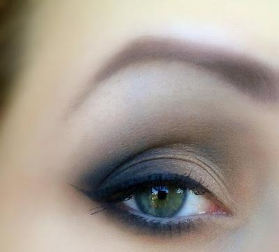 Makijaż jedną z nowości My Secret, jesienną paletką Smokey Nudes