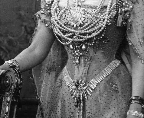 Experiments In Elegance Fringe Tiaras As Bodice Jewelry