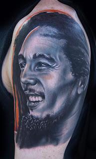 Tatuagem do Bob Marley