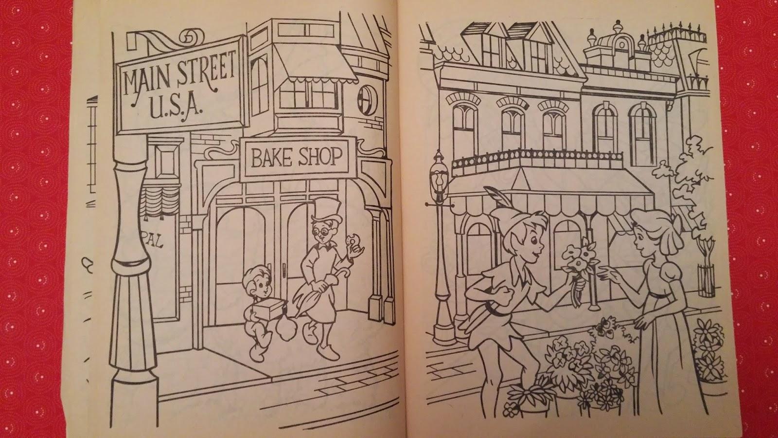 Walt Disney World A Coloring Book Main Street USA 1983