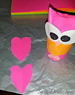 owl toilet paper roll craft valentines kids