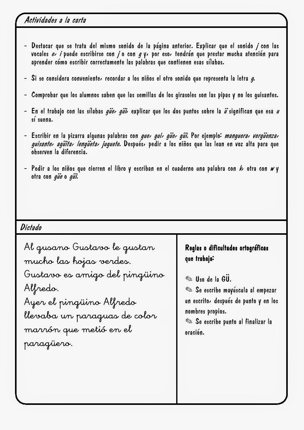 Letra G | g (gue, gui / güe, güi) ~ La Eduteca