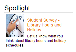 Let us know what you think about library hours and holiday schedules.