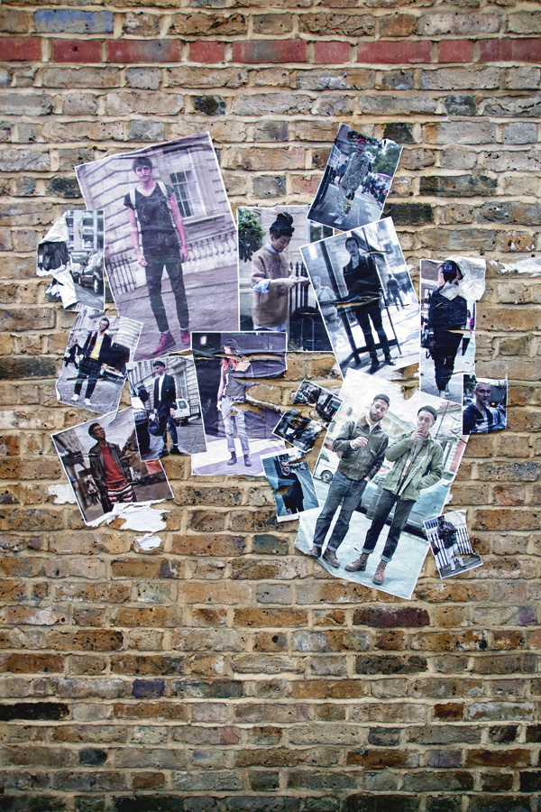 aliciasivert, alicia sivertsson, london med grabbarna, england, camden town, camden lock markets, collage, vägg, wall