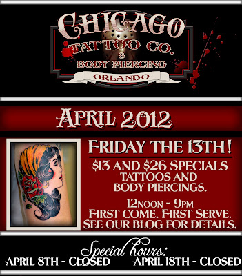 Chicago tattoo co friday the 13th specials are here for Friday the 13th tattoo specials near me