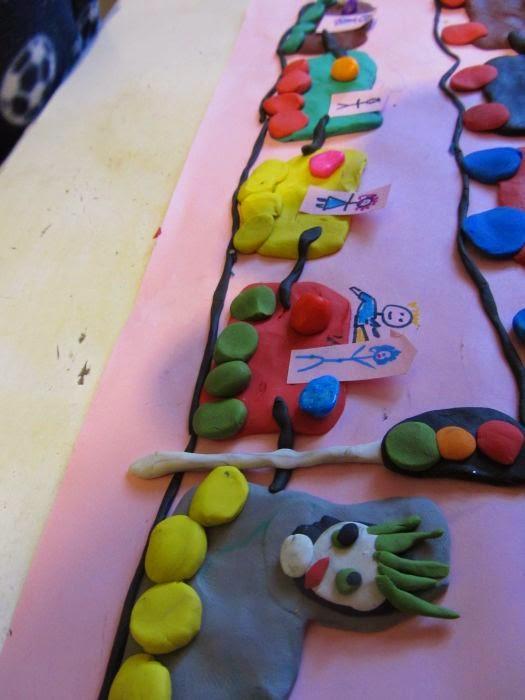 zabawa dla dzieci w domu wyklejanie plastelina