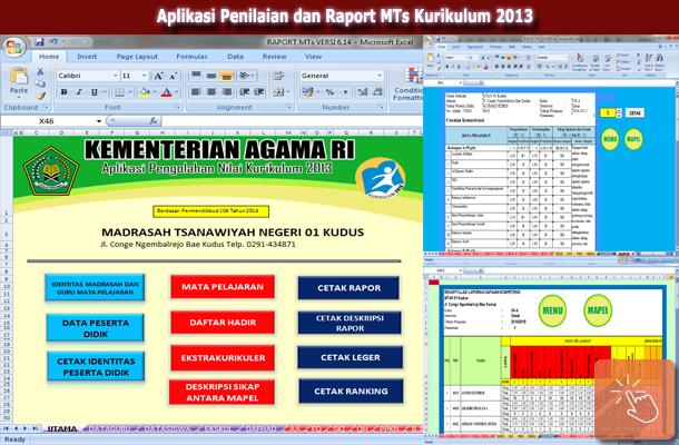 Aplikasi Penilaian dan Raport MTs Kurikulum 2013