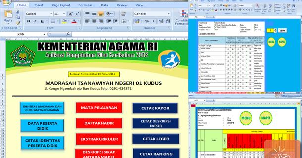 Download Aplikasi Penilaian Dan Raport Mts Kurikulum 2013