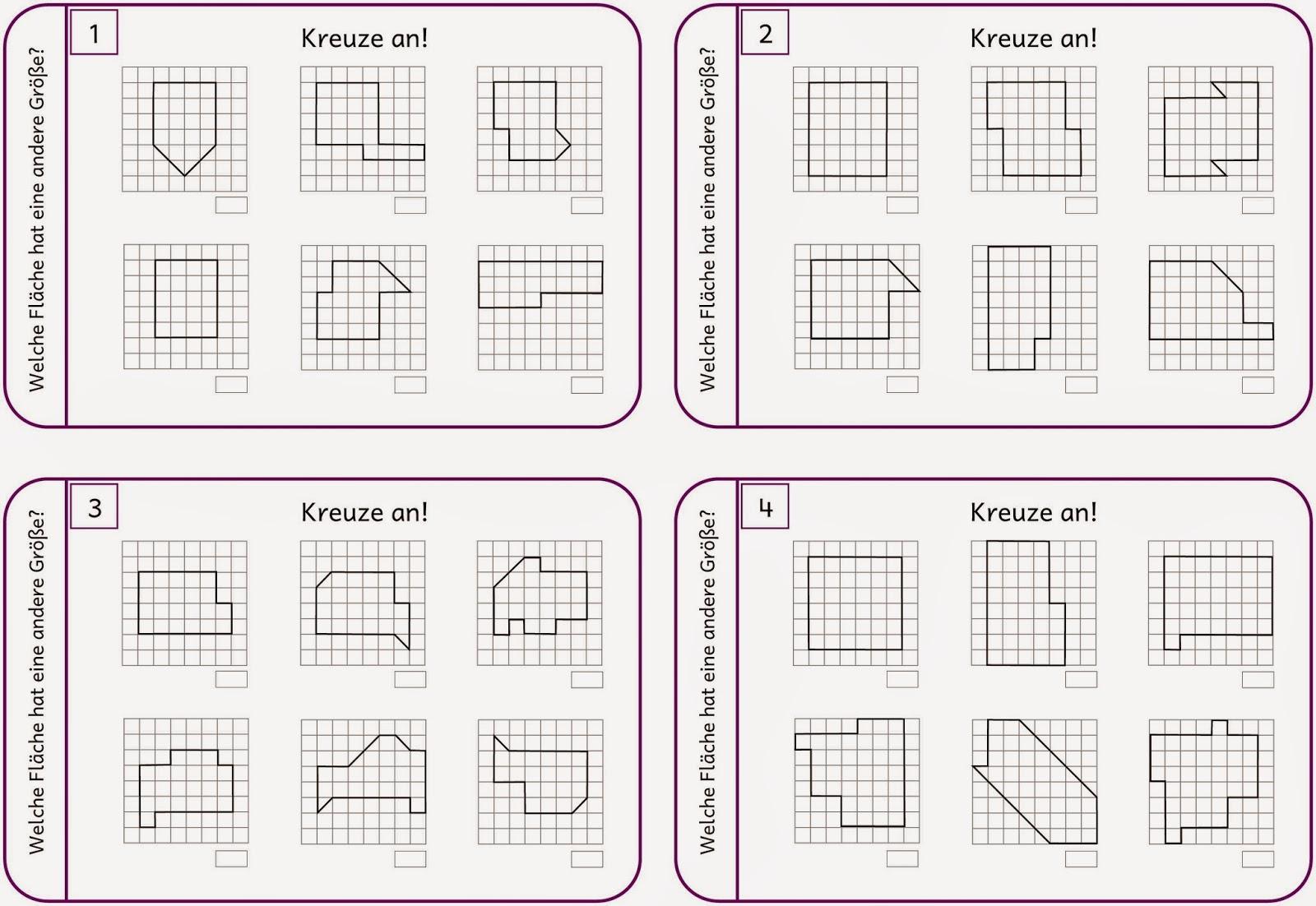 Lernstübchen: Flächeninhalt vergleichen (2)