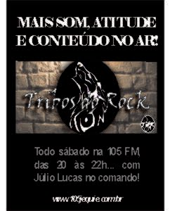 Tribos do Rock é na 105 FM