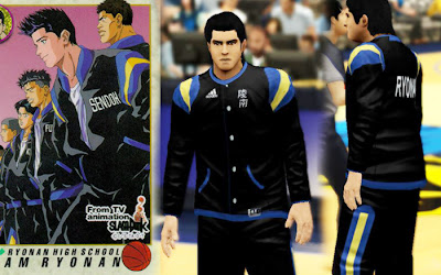 Slam Dunk 2K13 Ryonan Warmup Varsity Uniform