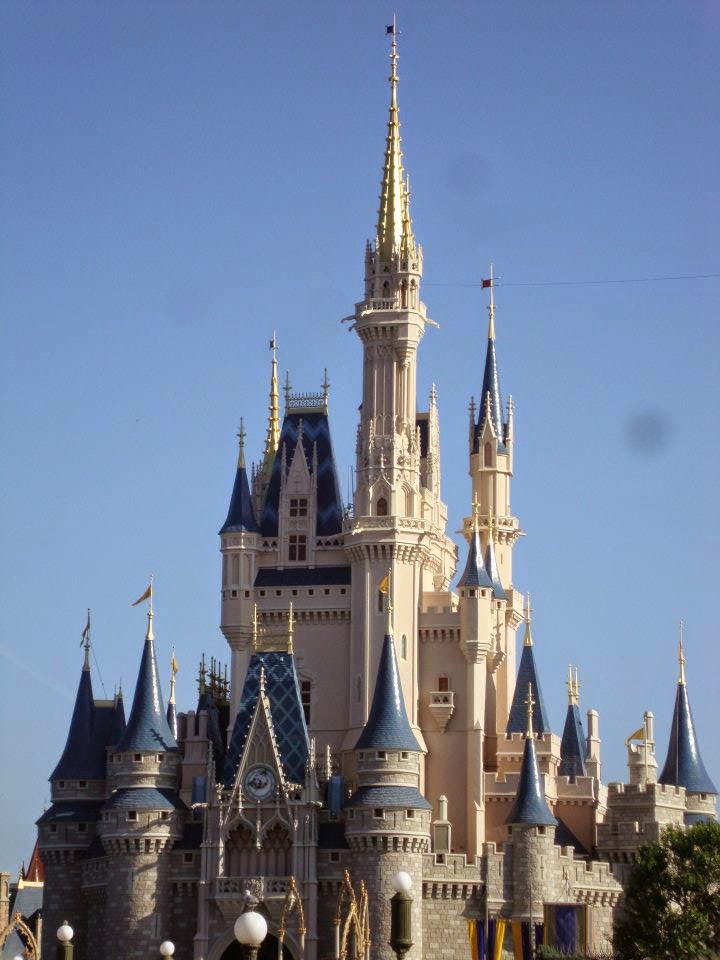 Cinderella's castle at Disney World in Orlando, Florida