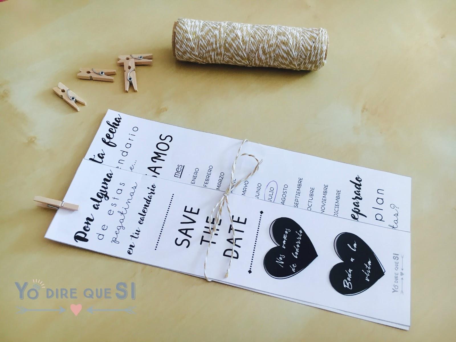 Blog de bodas - Yo dire que si: Save the Date para tu boda ...