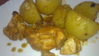 pollo con patatas a la campesina