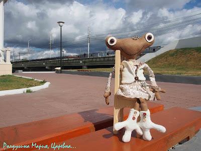царевна лягушка купить ручная работа замша