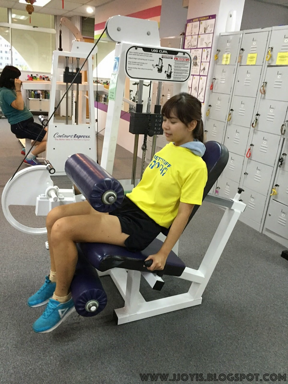 toning machine woman