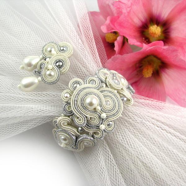 Biżuteria ślubna sutasz z perłami