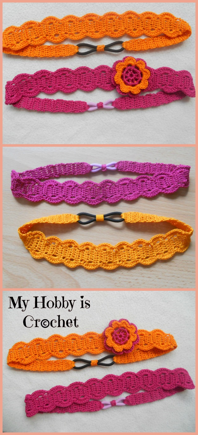 Crochet Tutorial Headband : Hobby Is Crochet: Thread Headband Free Crochet Pattern with Tutorial ...