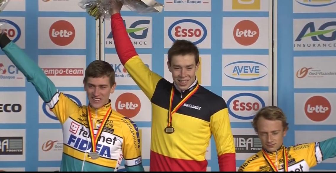 Podium championnat de Belgique espoirs 2015