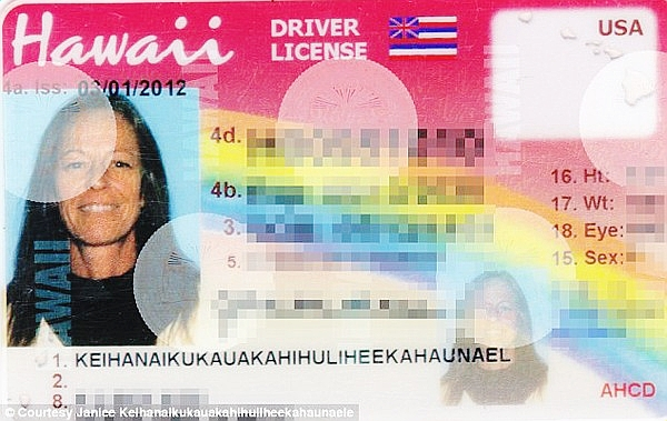 HANYA nama akhir Keihanaikukauakahihuliheekahaunaele dicatat pada lesen memandunya.