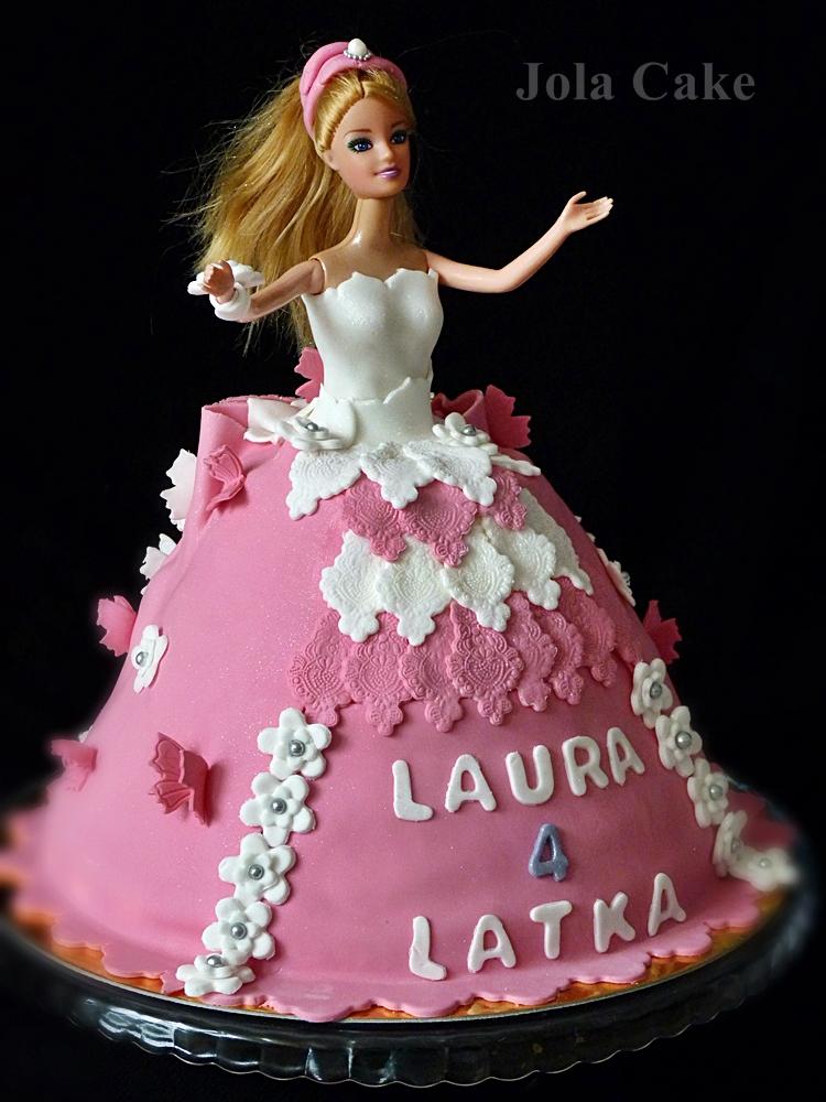 tort lalka barbie