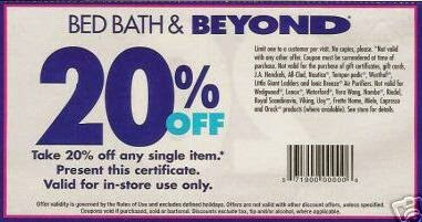 Bed Bath And Beyond Printable Coupons March 2015