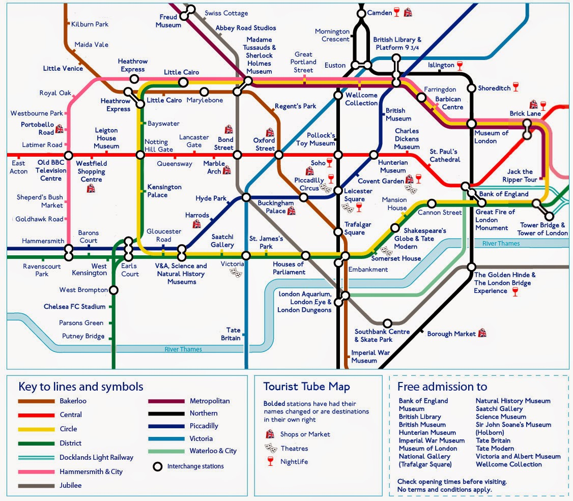Tourist map - London subway