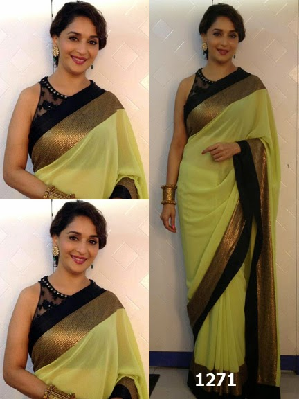 Bollywood Replica Saree, Madhuri Dixit Green Saree