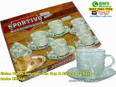 Gelas Paket Sportivo Tea Cup Saucer 12 Sets