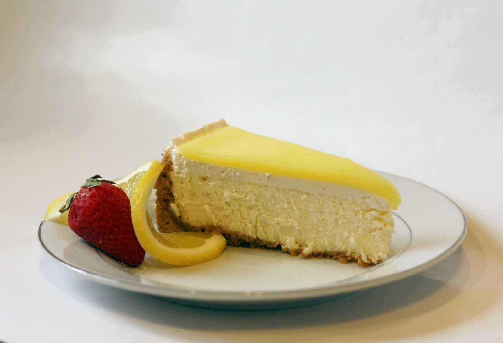 LEMON CHEESECAKE (Adapted from Chowhound and Food.com )