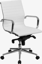 White Leather Conference Chair
