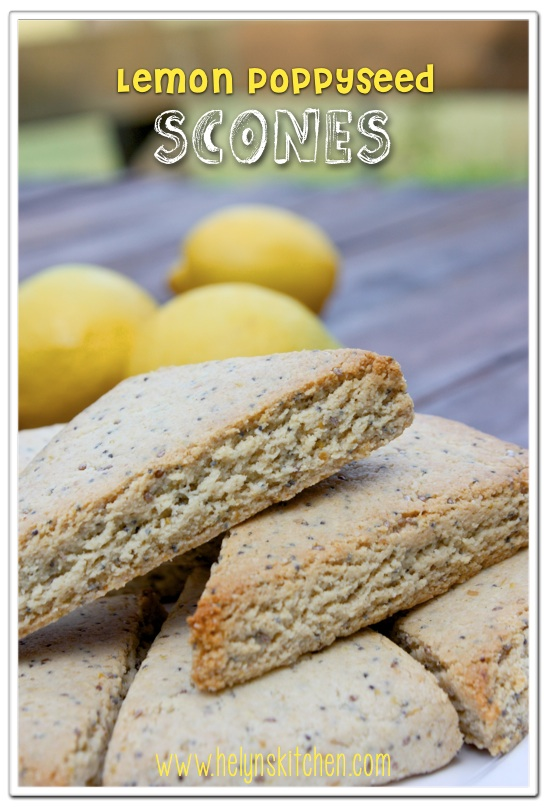 Helyn's Healthy Kitchen: Lemon Poppyseed Scones. Vegan, Oil-free and ...