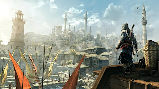 Assasin Creed Over The City HD Wallpaper