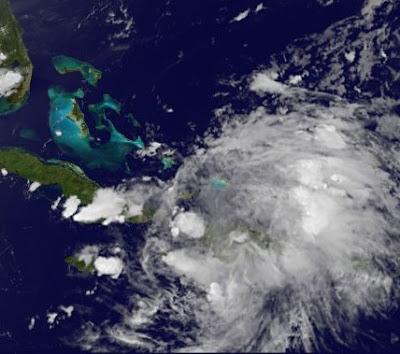 Tropischer Sturm EMILY nicht mehr existent - Trotzdem gefährlicher Regen auf Haiti und der Dominikanischen Republik - Neubildung nicht ausgeschlossen, 2011, aktuell, Atlantik, Bahamas, Dominikanische Republik, Emily, Hispaniola, Haiti, Hurrikansaison 2011, Karibik, Kuba, Sturmflut Hochwasser Überschwemmung, Touristen,