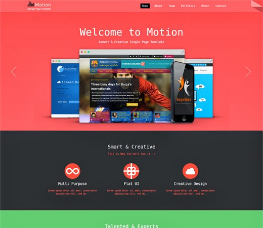 Free template website download free download motion a for Motion 4 templates free download