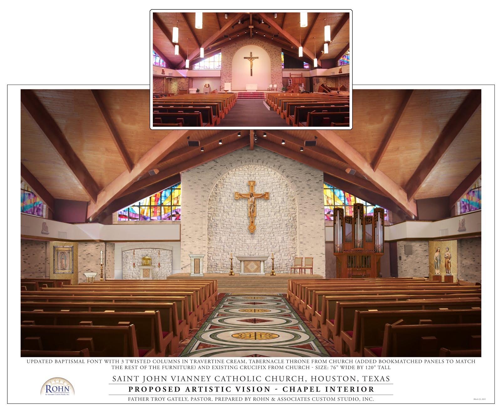 St John Vianney Catholic Church Renovation An Expression Of Graude