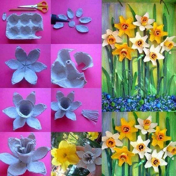 How To Create Flowers With Egg boxes