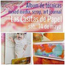 Las casitas de papel (Sant Cugat):         Taller técnicas art journal y mixed media