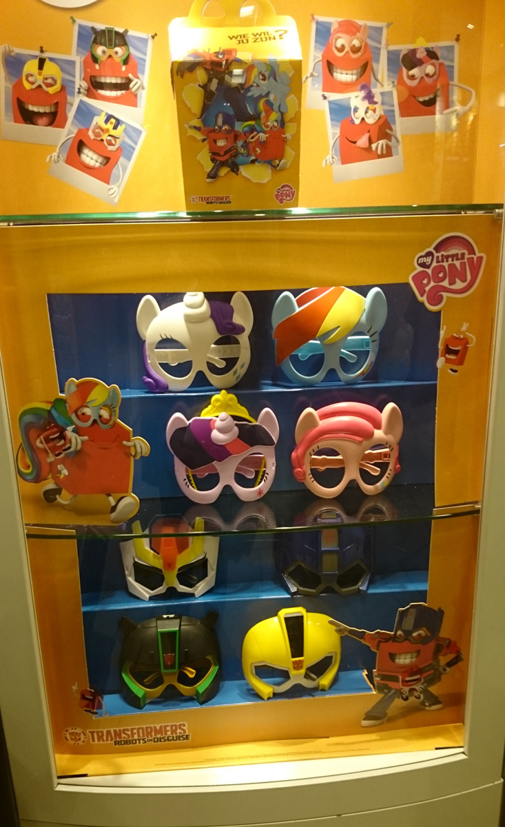 Happy Meal Toys : Happy meal mlp masks now available in several countries