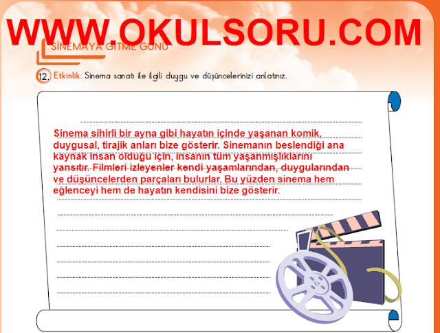 5.Sınıf Türkçe MEB Yayınları Çalışma Kitabı 194.Sayfa Cevapları
