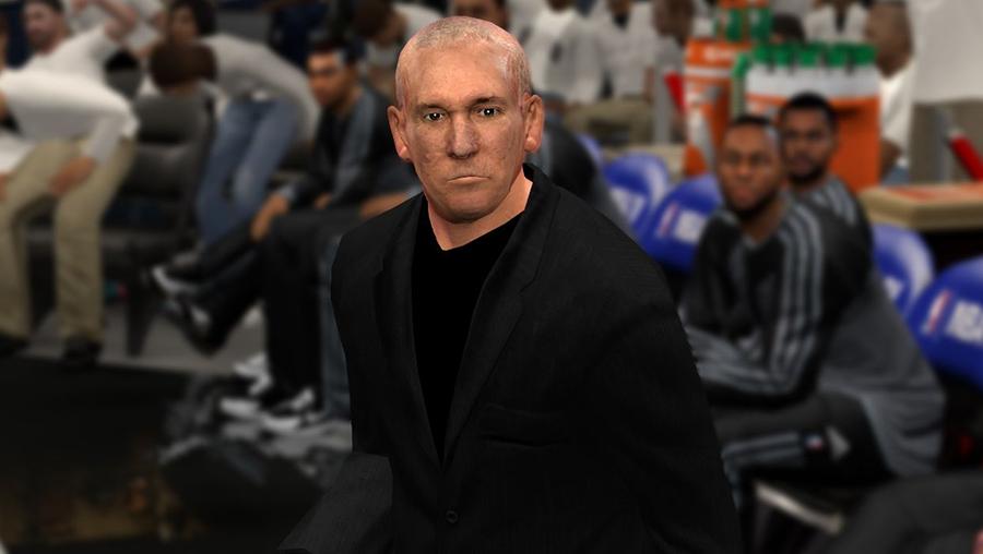 NBA 2K14 Coach Gregg Popovich Face Mod