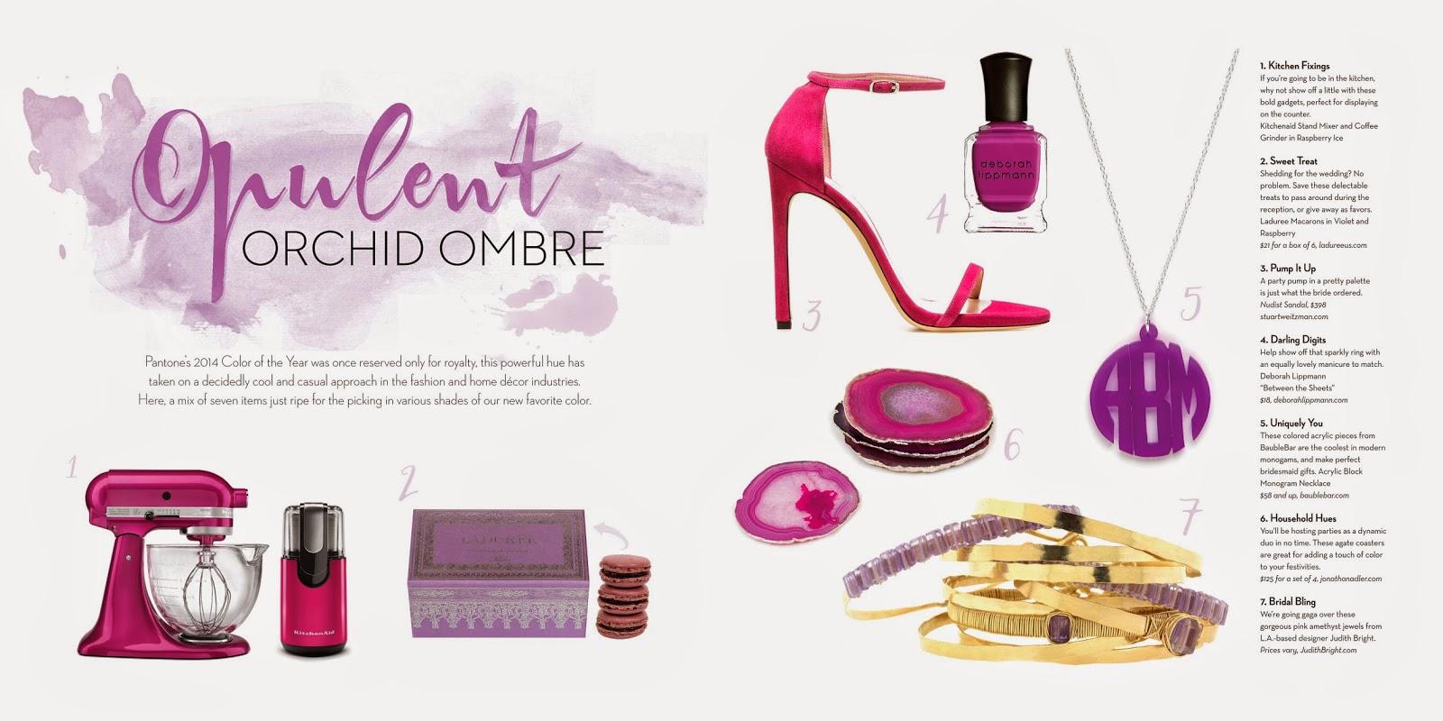 radiant orchid, pantone, central florida celebrations and events
