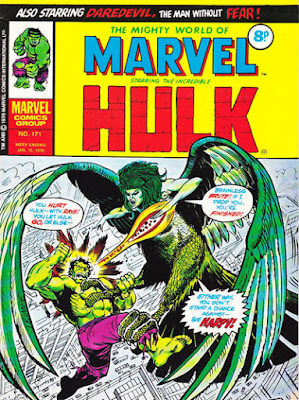 Mighty World of Marvel #171, Hulk vs Harpy