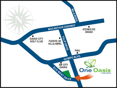 One Oasis Davao Location Map, Condominium for sale in Davao, Filinvest