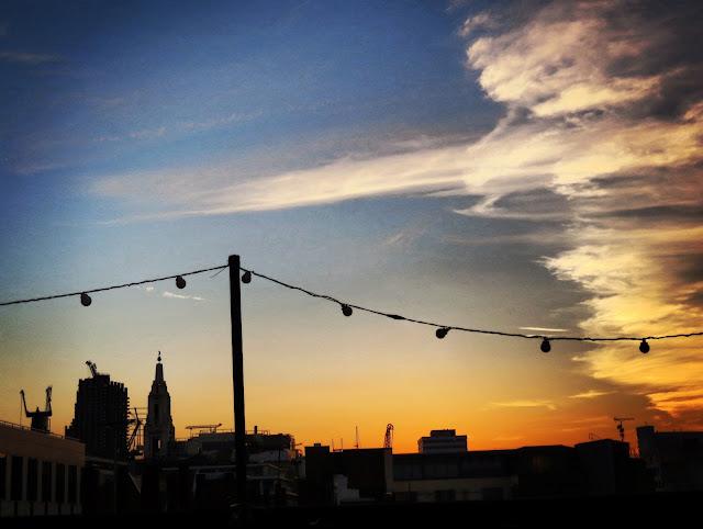 Queen of Hoxton rooftop sunset