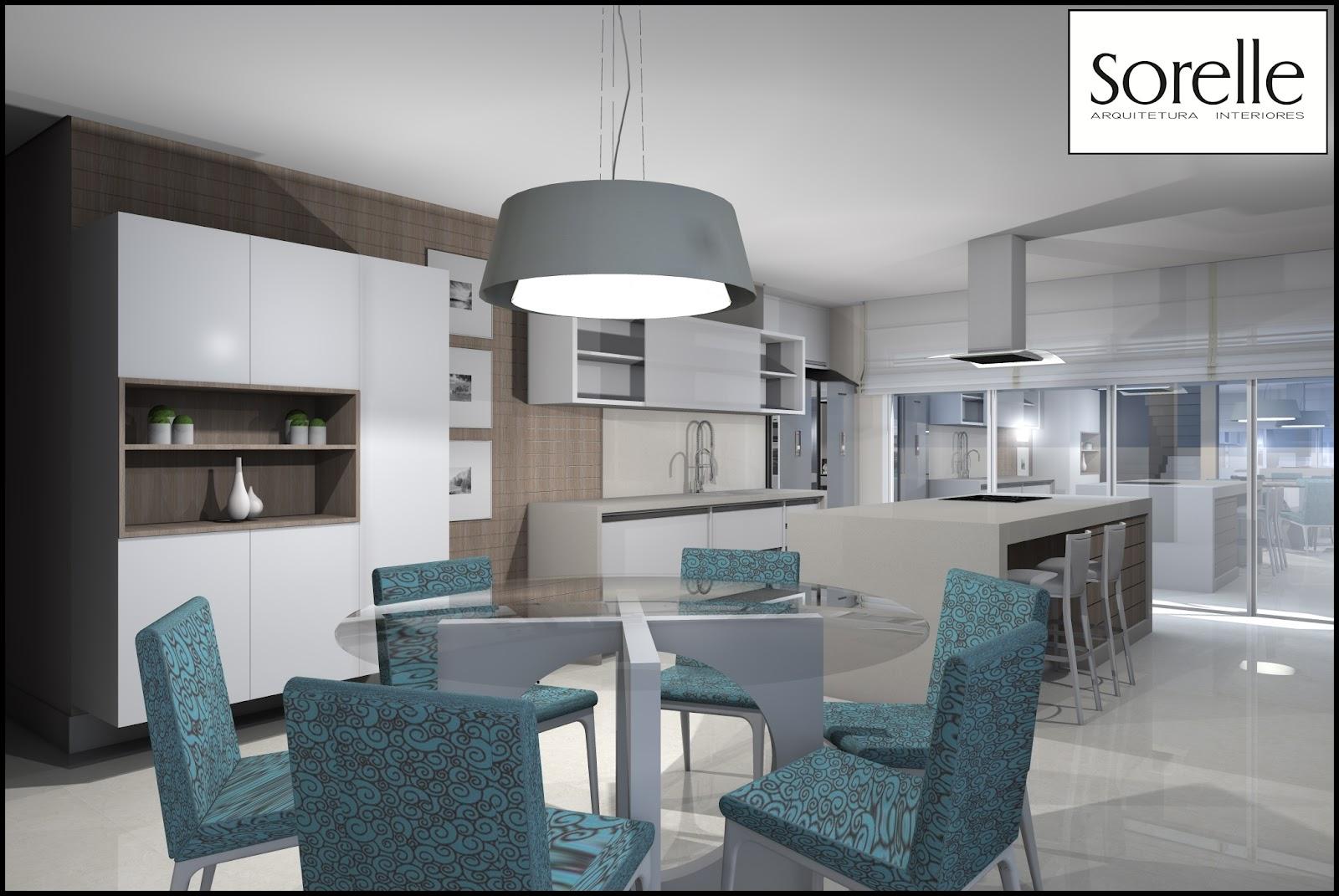 Sorelle Arquitetura e Interiores: Cozinha e Sala de Jantar . #3C5159 1600 1071
